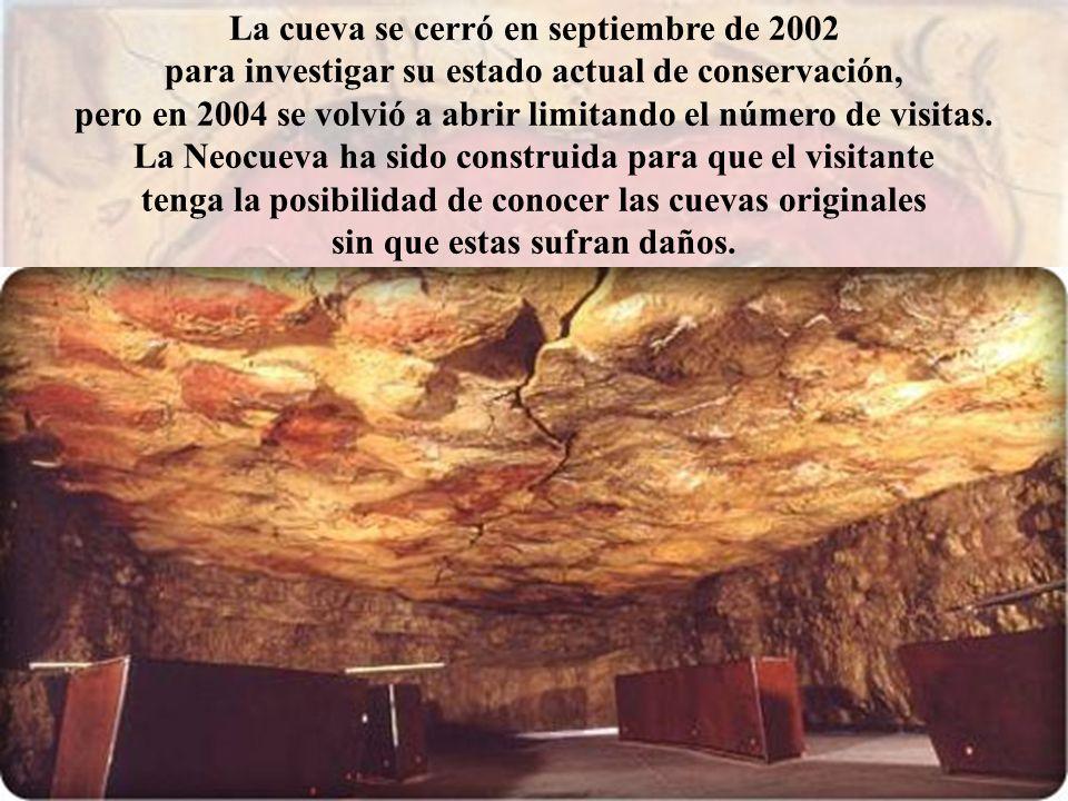 La cueva se cerró en septiembre de 2002 para investigar su estado actual de conservación, pero en 2004 se volvió a abrir limitando el número de visita