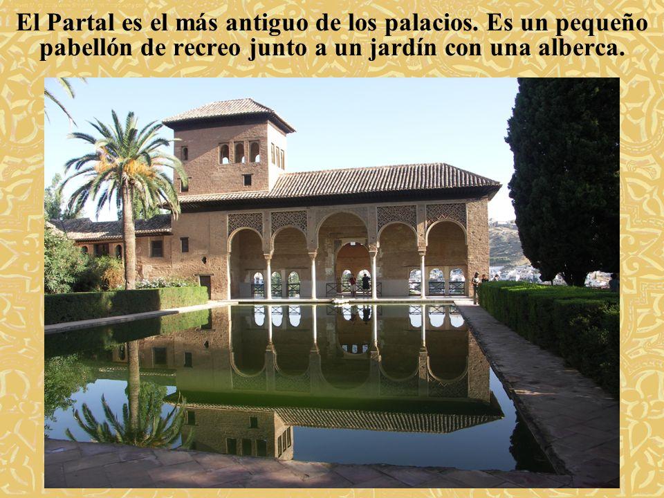 El Partal es el más antiguo de los palacios. Es un pequeño pabellón de recreo junto a un jardín con una alberca.