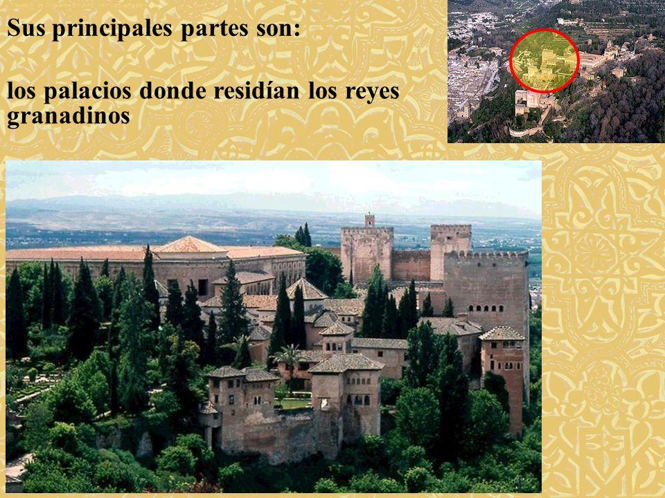 Sus principales partes son: la medina, pequeña ciudad hoy en ruinas donde vivía la corte de los reyes y sus sirvientes.