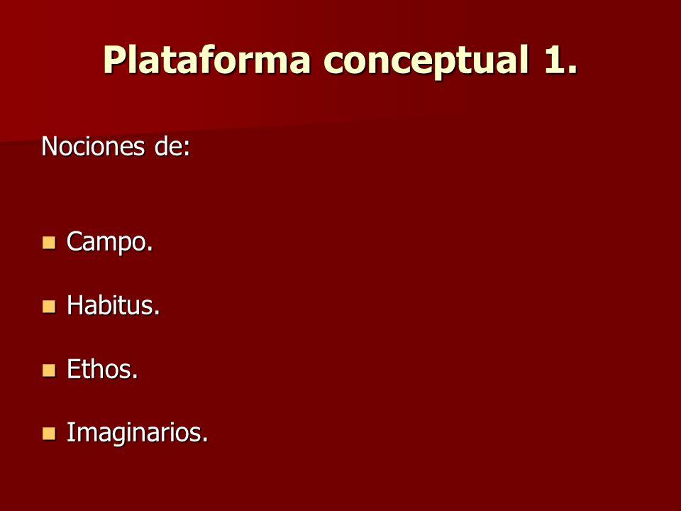 Plataforma conceptual 2.Conducta social mediada simbólicamente y como fenómeno intersubjetivo.
