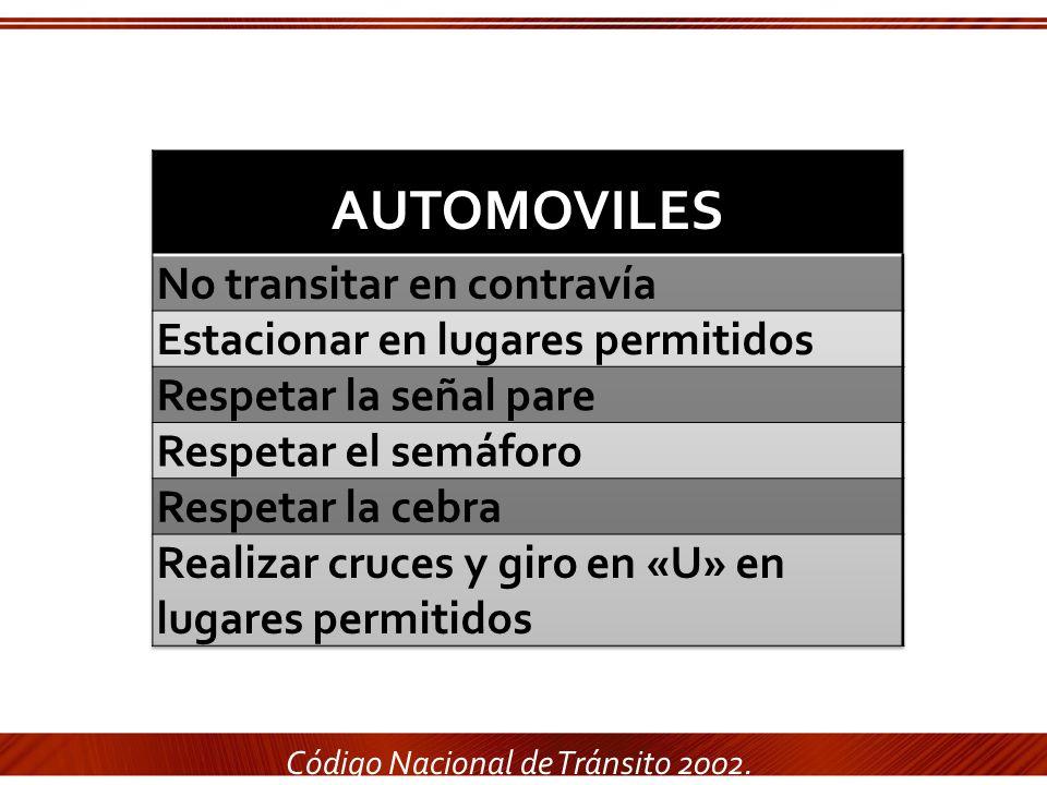 Código Nacional de Tránsito 2002.