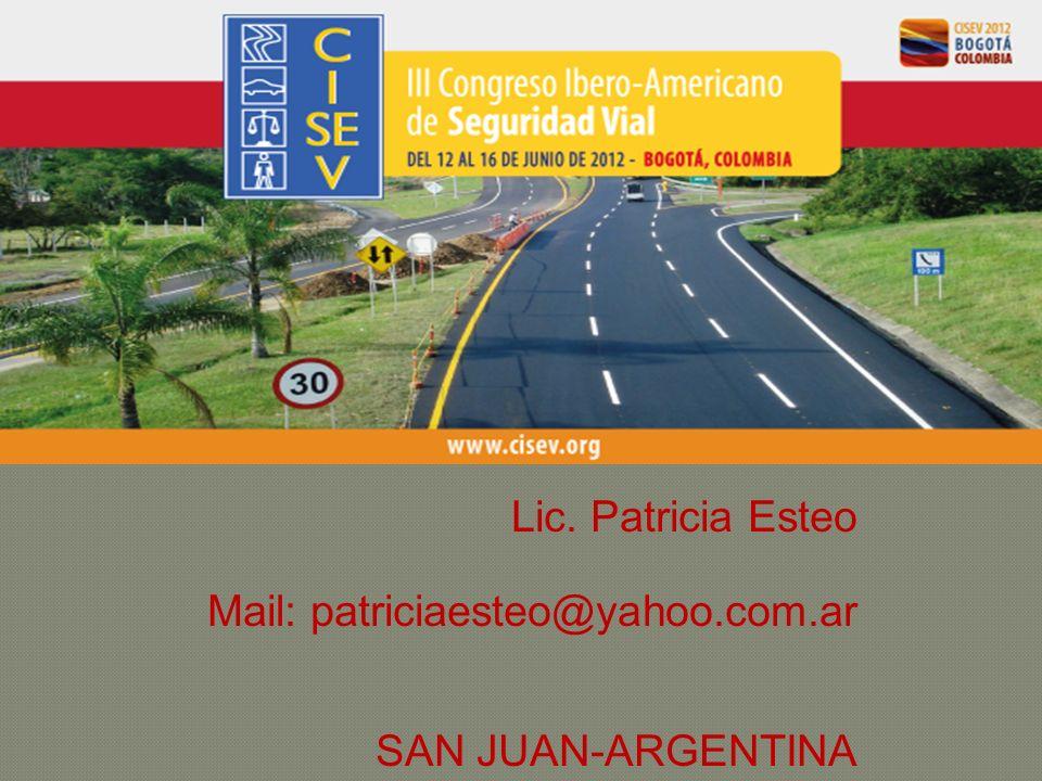 Lic. Patricia Esteo Mail: patriciaesteo@yahoo.com.ar SAN JUAN-ARGENTINA