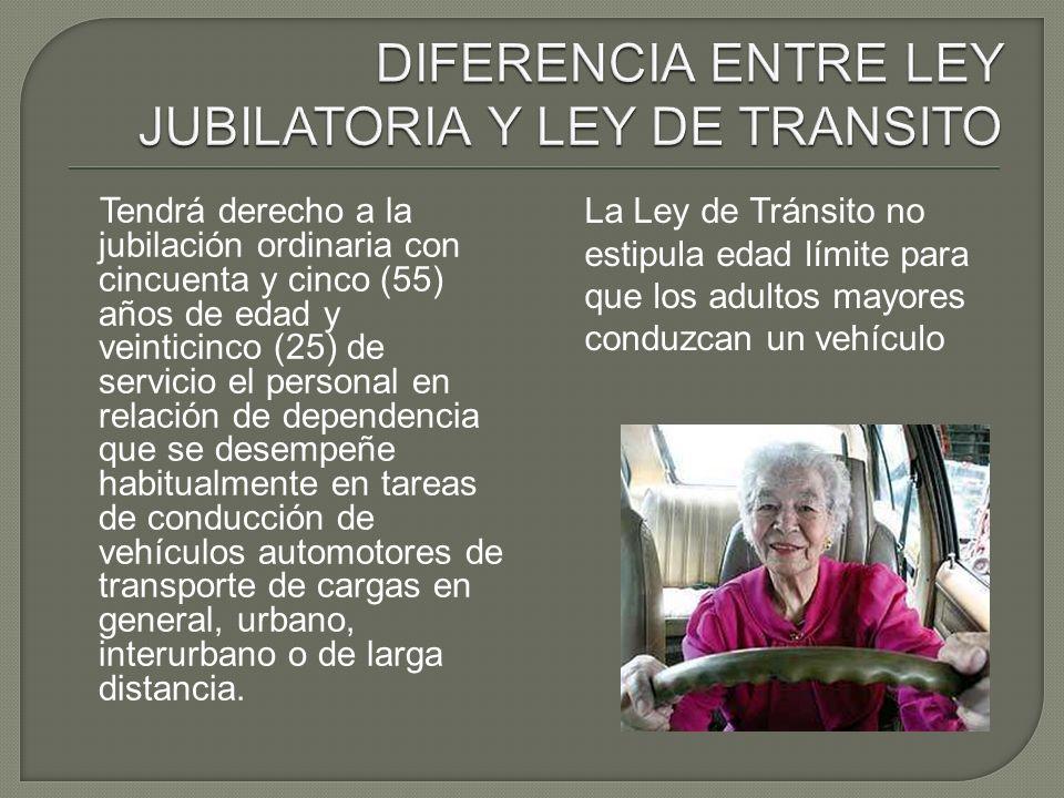Tendrá derecho a la jubilación ordinaria con cincuenta y cinco (55) años de edad y veinticinco (25) de servicio el personal en relación de dependencia