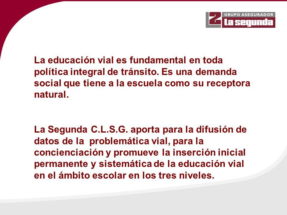 La educación vial es fundamental en toda política integral de tránsito.