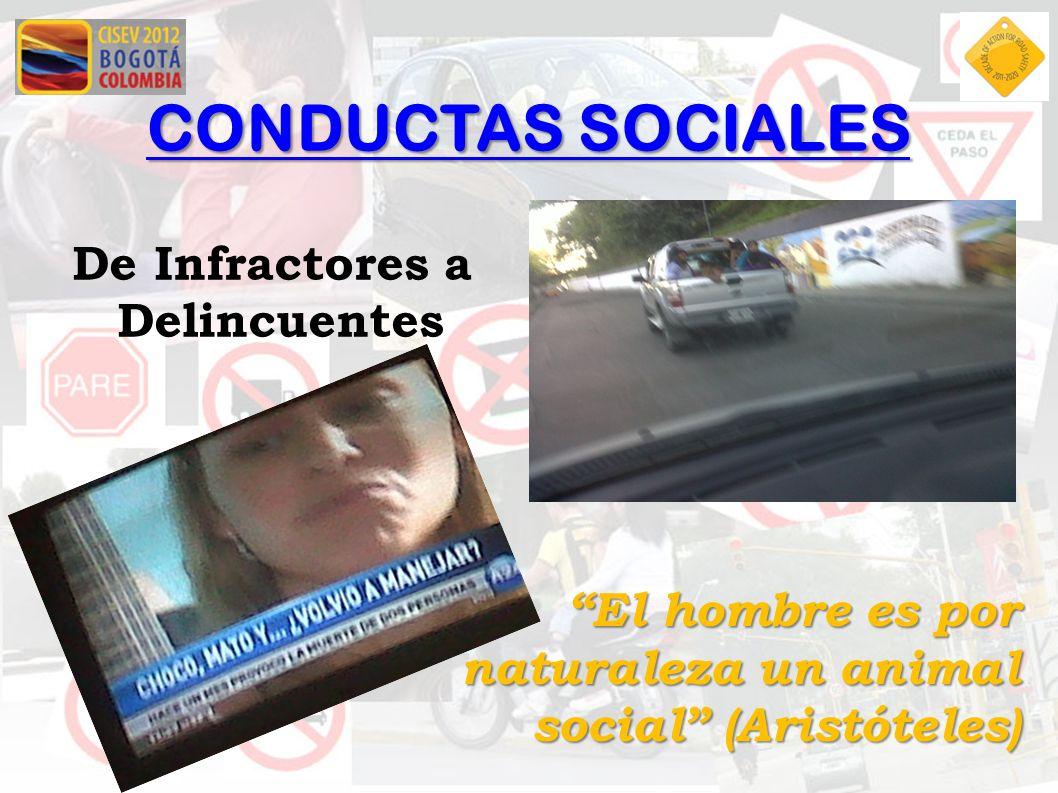 CONDUCTAS SOCIALES De Infractores a Delincuentes El hombre es por naturaleza un animal social (Aristóteles)