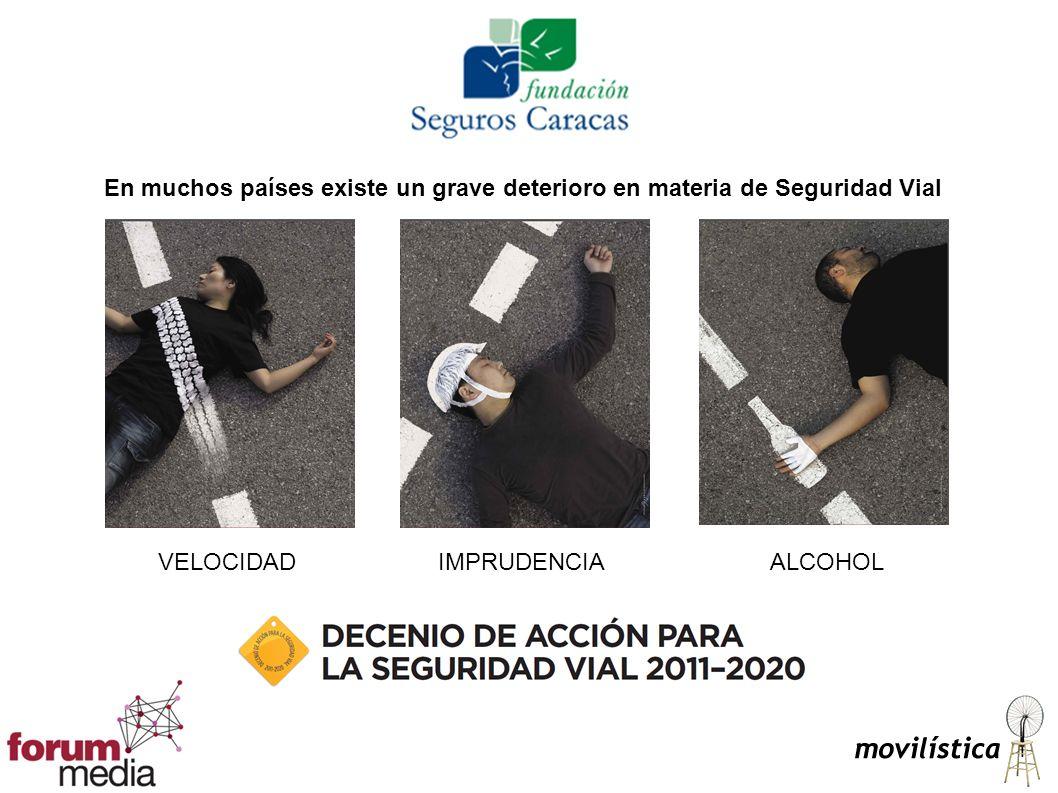 En muchos países existe un grave deterioro en materia de Seguridad Vial VELOCIDADIMPRUDENCIAALCOHOL