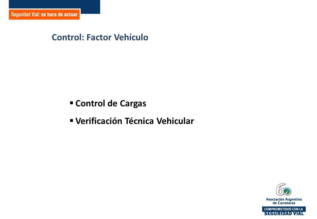 Control: Factor Vehículo Control de Cargas Verificación Técnica Vehicular