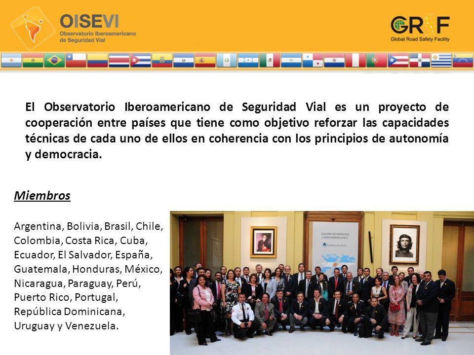 El Observatorio Iberoamericano de Seguridad Vial es un proyecto de cooperación entre países que tiene como objetivo reforzar las capacidades técnicas