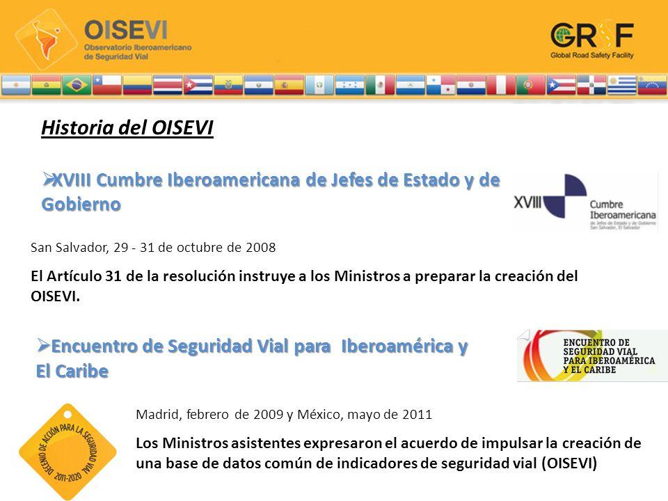VIII Encuentro Iberoamericano de Responsables de Tránsito y Seguridad Vial VIII Encuentro Iberoamericano de Responsables de Tránsito y Seguridad Vial IX Encuentro Iberoamericano de Responsables de Tránsito y Seguridad Vial IX Encuentro Iberoamericano de Responsables de Tránsito y Seguridad Vial Ibero-American Road Safety Observatory Santiago de Chile, 14 de junio de 2009 Presentar una propuesta para la creación de una Base de Datos de Siniestros y una propuesta de estructura y organización del OISEVI.