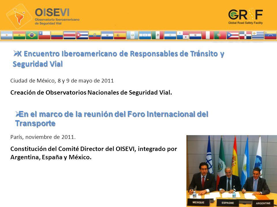 Lanzamiento del OISEVI Se realizó en el marco del XI Encuentro Iberoamericano de Responsables de Tránsito y Seguridad Vial realizado del 19 al 21 de marzo en Buenos Aires, Argentina.