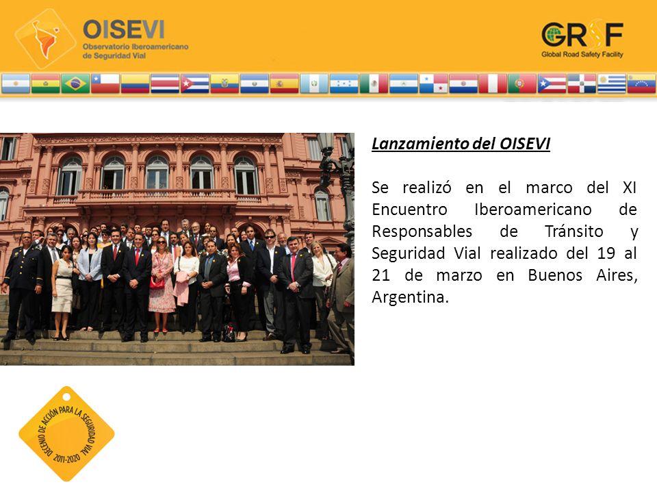 Lanzamiento del OISEVI Se realizó en el marco del XI Encuentro Iberoamericano de Responsables de Tránsito y Seguridad Vial realizado del 19 al 21 de m