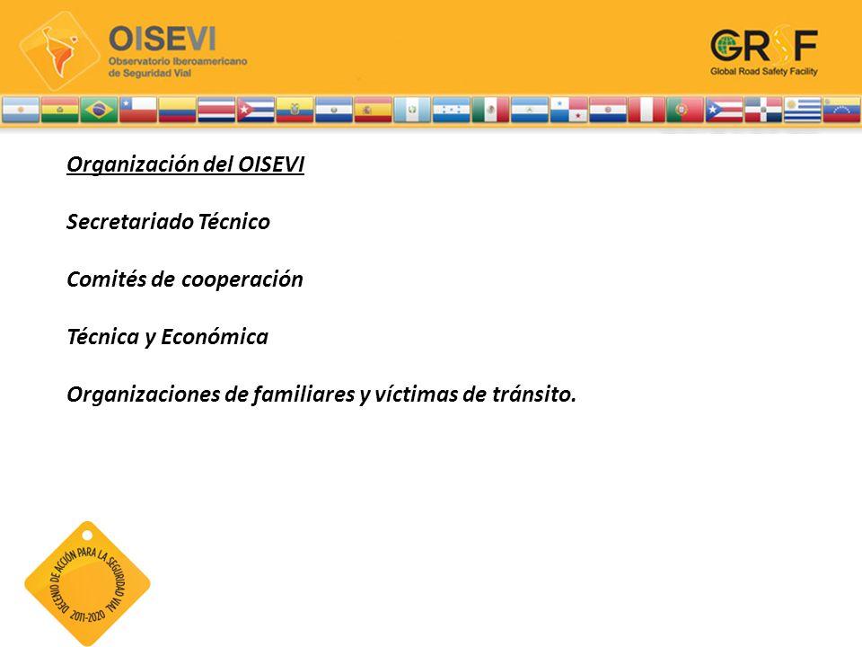 Organización del OISEVI Secretariado Técnico Comités de cooperación Técnica y Económica Organizaciones de familiares y víctimas de tránsito.