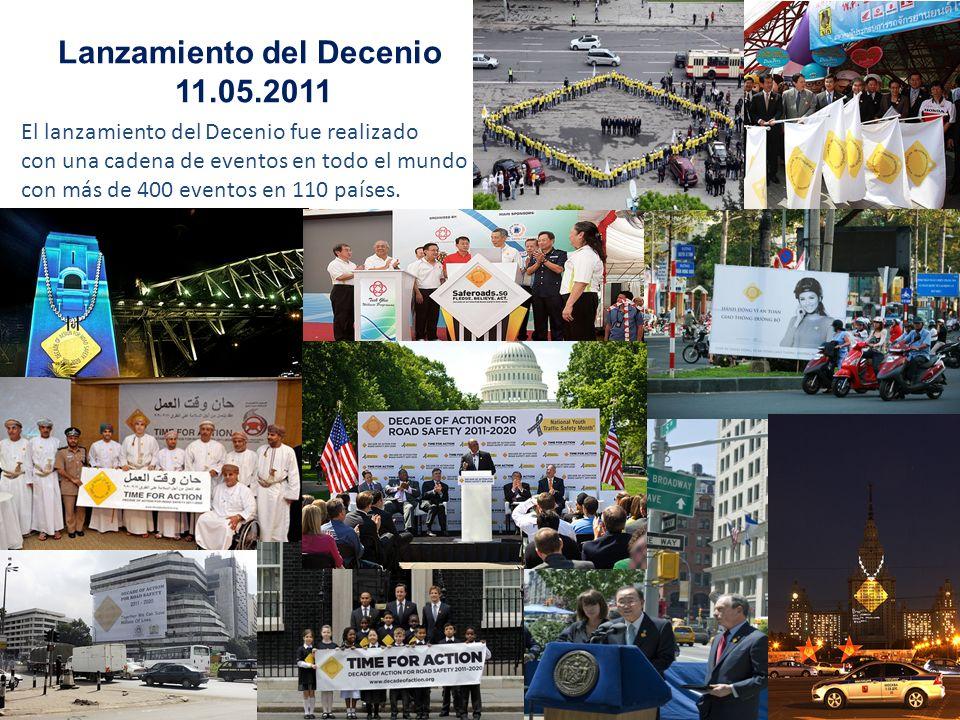 El lanzamiento del Decenio fue realizado con una cadena de eventos en todo el mundo con más de 400 eventos en 110 países. Lanzamiento del Decenio 11.0
