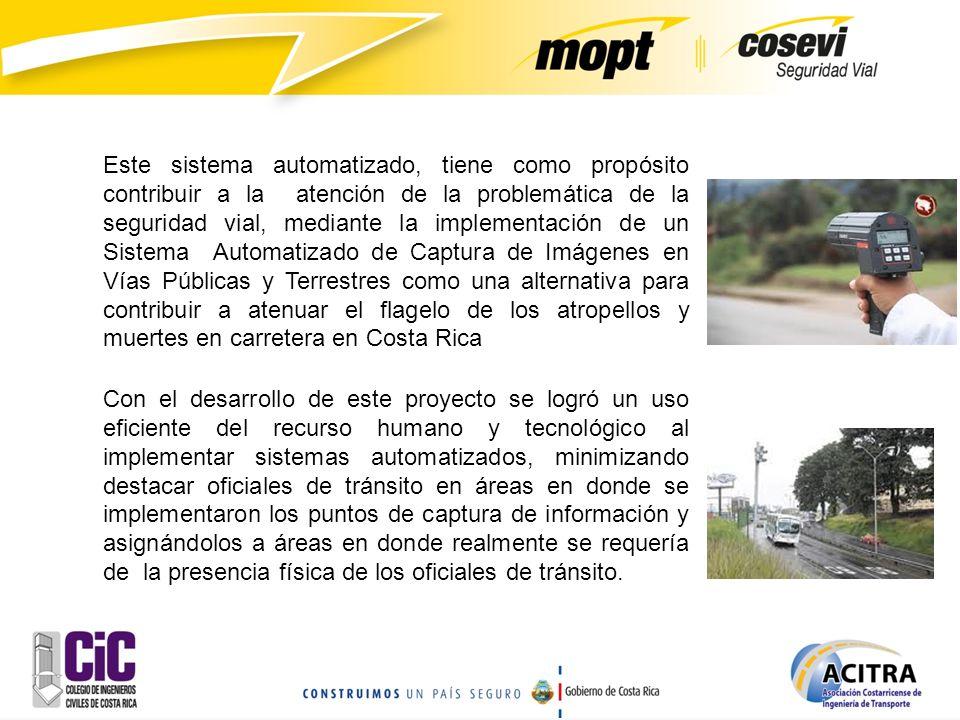 Este sistema automatizado, tiene como propósito contribuir a la atención de la problemática de la seguridad vial, mediante la implementación de un Sis