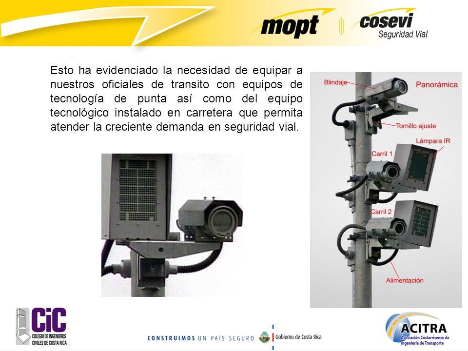 La experiencia internacional muestra que el uso de equipos electrónicos para monitoreo de tránsito reduce alrededor del 60% los accidentes y el 80% las muertes.
