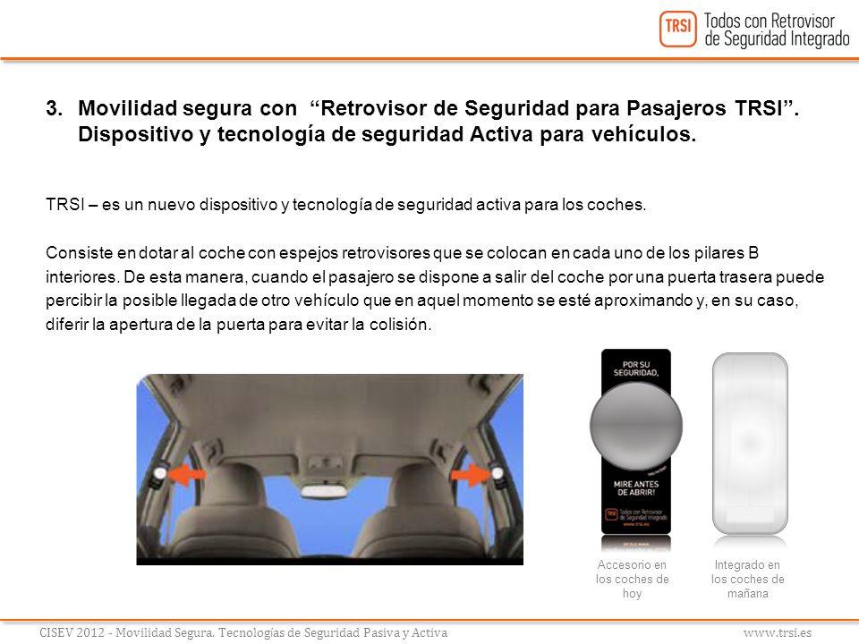 3.Movilidad segura con Retrovisor de Seguridad para Pasajeros TRSI. Dispositivo y tecnología de seguridad Activa para vehículos. TRSI – es un nuevo di