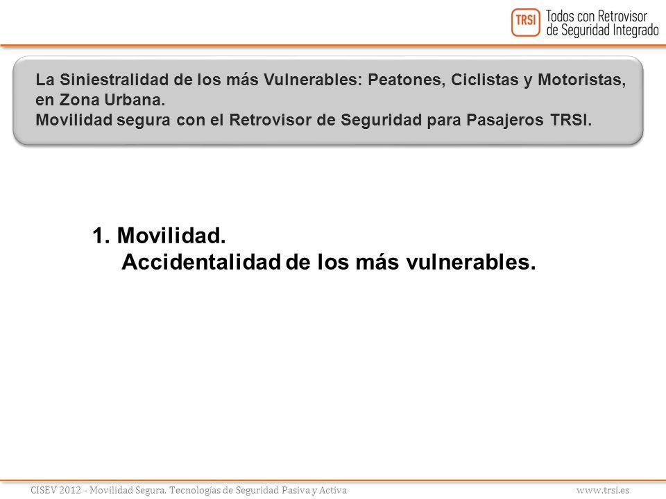 1.Movilidad. Accidentalidad de los más vulnerables. CISEV 2012 - Movilidad Segura. Tecnolog í as de Seguridad Pasiva y Activa www.trsi.es La Siniestra