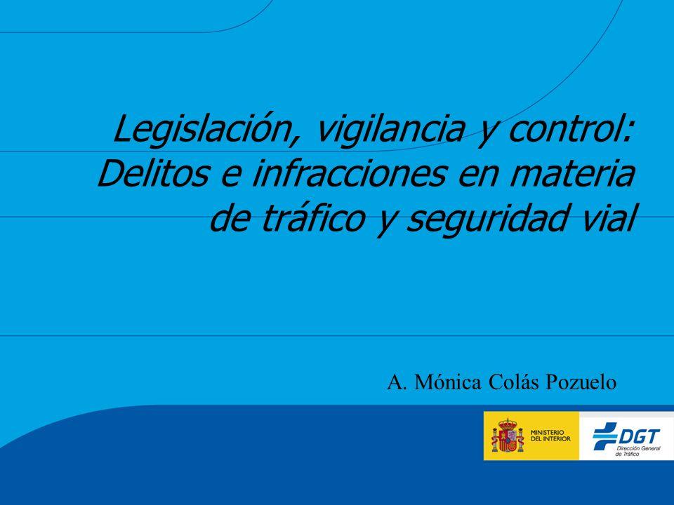 Legislación, vigilancia y control: Delitos e infracciones en materia de tráfico y seguridad vial A. Mónica Colás Pozuelo