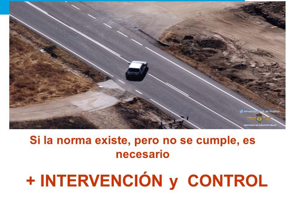 Si la norma existe, pero no se cumple, es necesario + INTERVENCIÓN y CONTROL