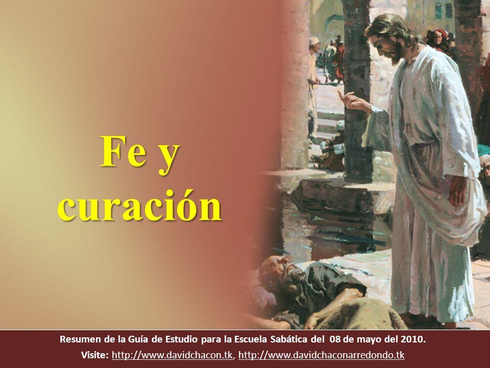 Resumen de la Guía de Estudio para la Escuela Sabática del 08 de mayo del 2010. Visite: http://www.davidchacon.tk, http://www.davidchaconarredondo.tkh