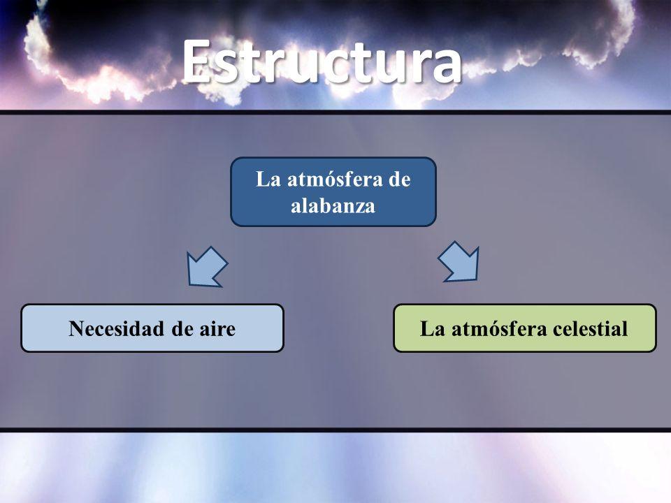 Estructura La atmósfera de alabanza La atmósfera celestialNecesidad de aire