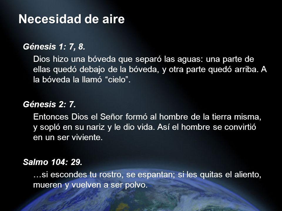 Génesis 1: 7, 8. Dios hizo una bóveda que separó las aguas: una parte de ellas quedó debajo de la bóveda, y otra parte quedó arriba. A la bóveda la ll