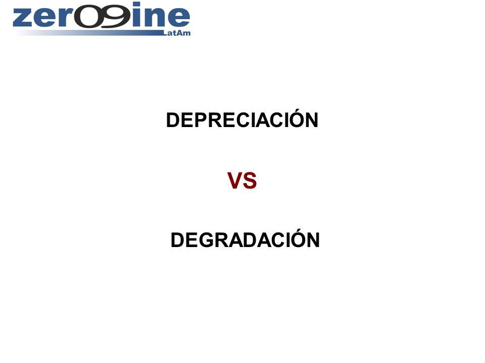 DEPRECIACIÓN VS DEGRADACIÓN