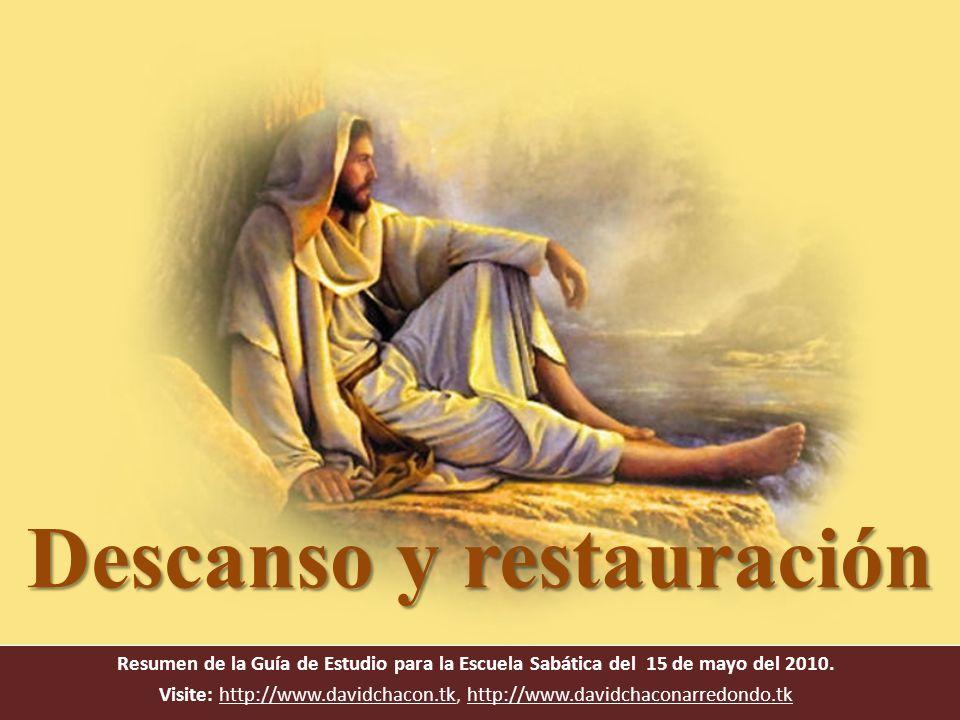 Texto clave Marcos 6: 31 Él les dijo: Venid vosotros aparte, a un lugar desierto, y descansad un poco, porque eran muchos los que iban y venían, de manera que ni aun tenían tiempo para comer.