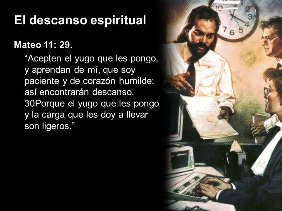 El descanso espiritual ¿En qué consiste el descanso espiritual.