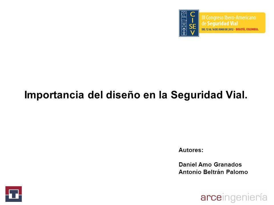 Importancia del diseño en la Seguridad Vial. Autores: Daniel Amo Granados Antonio Beltrán Palomo