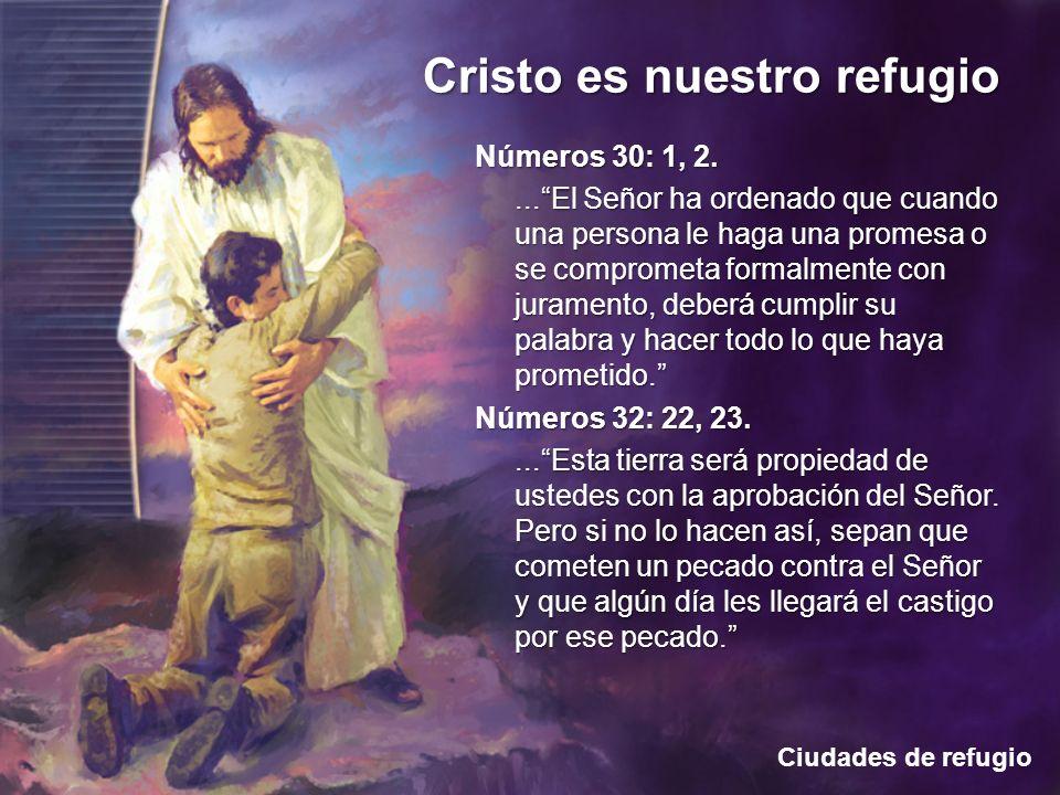 Ciudades de refugio Cristo es nuestro refugio Números 30: 1, 2....El Señor ha ordenado que cuando una persona le haga una promesa o se comprometa form