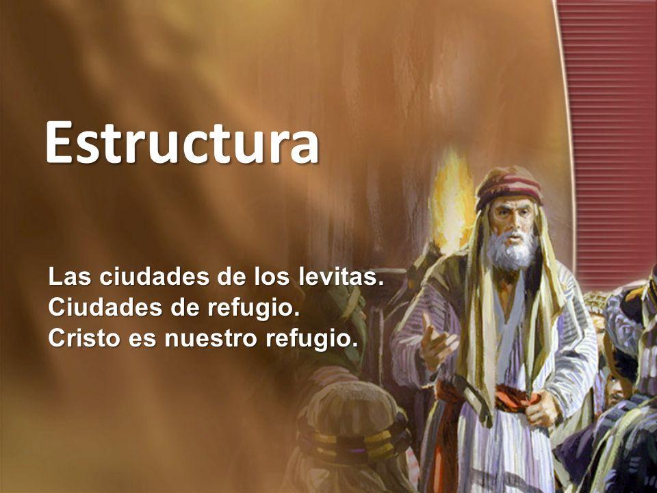 Estructura Las ciudades de los levitas. Ciudades de refugio. Cristo es nuestro refugio.