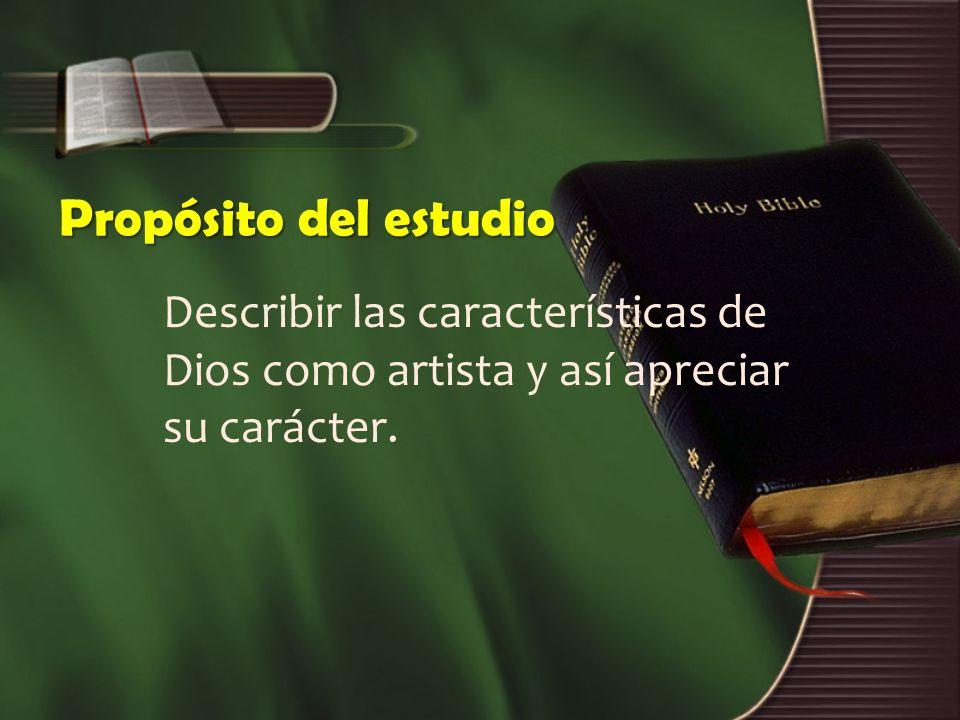 Estructura de estudio 1.Dios como alfarero. 2. Dios como arquitecto.