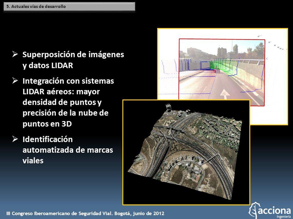 Superposición de imágenes y datos LIDAR Superposición de imágenes y datos LIDAR Integración con sistemas LIDAR aéreos: mayor densidad de puntos y prec