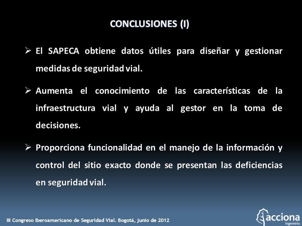 El SAPECA obtiene datos útiles para diseñar y gestionar medidas de seguridad vial. El SAPECA obtiene datos útiles para diseñar y gestionar medidas de