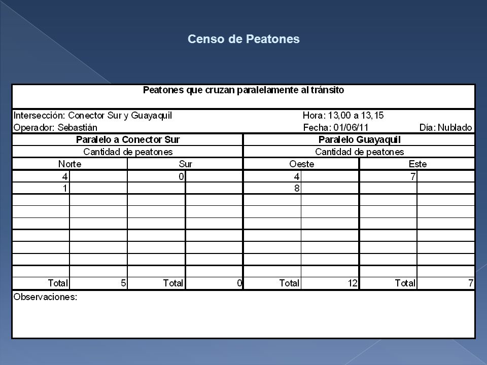 Censo de Peatones