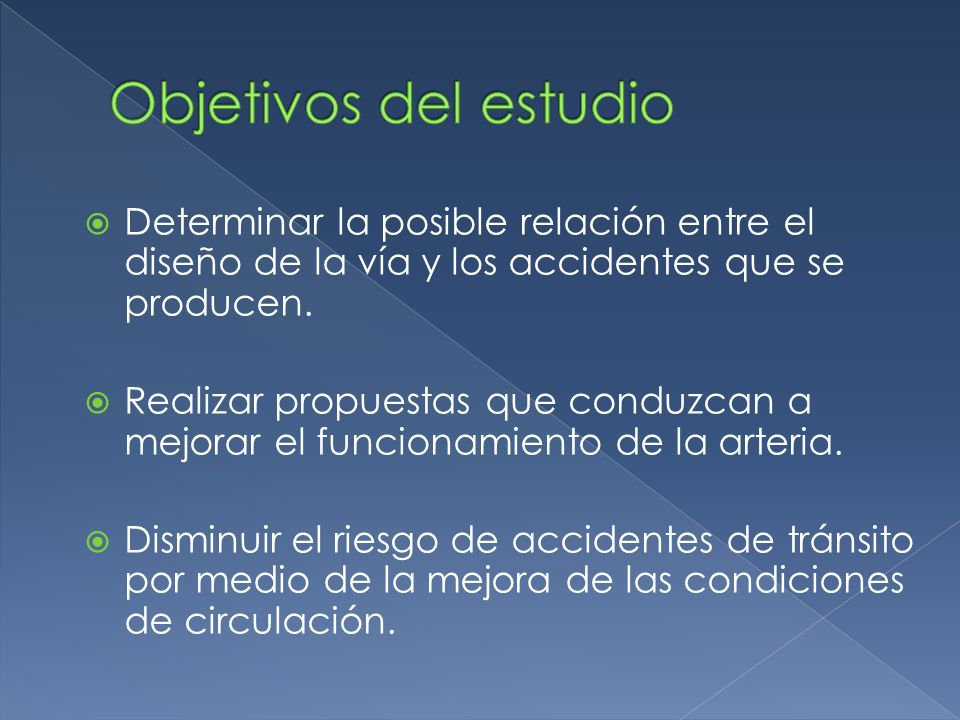 Determinar la posible relación entre el diseño de la vía y los accidentes que se producen.