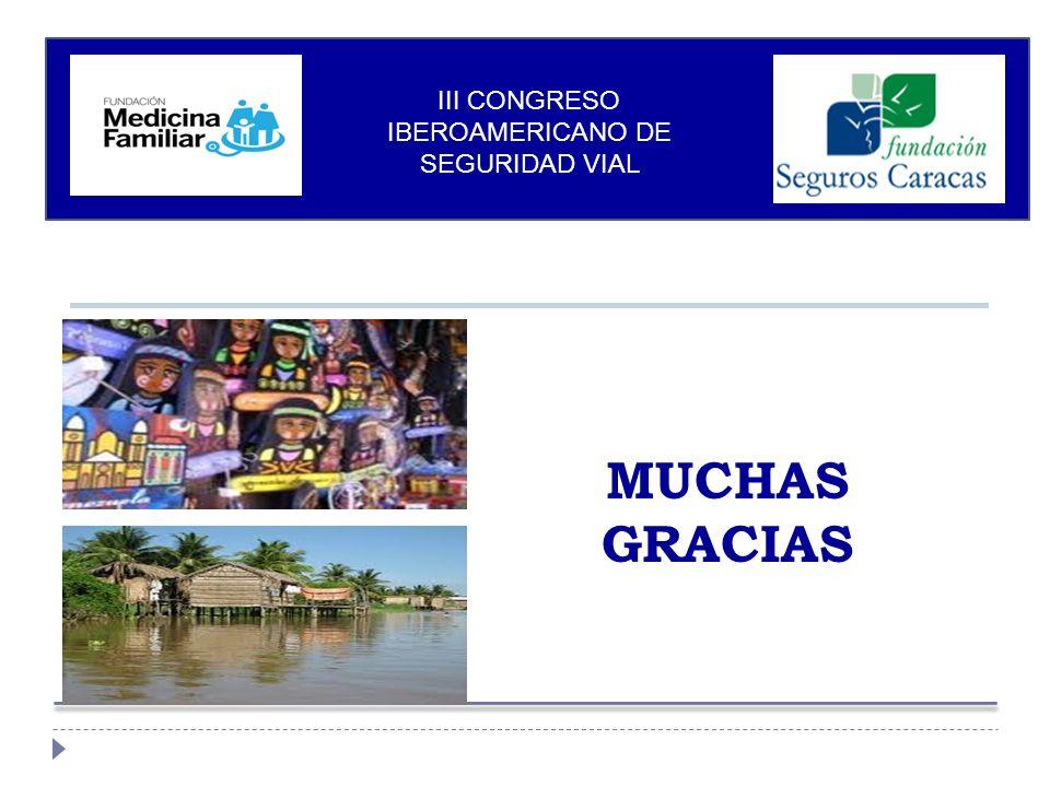 MUCHAS GRACIAS III CONGRESO IBEROAMERICANO DE SEGURIDAD VIAL