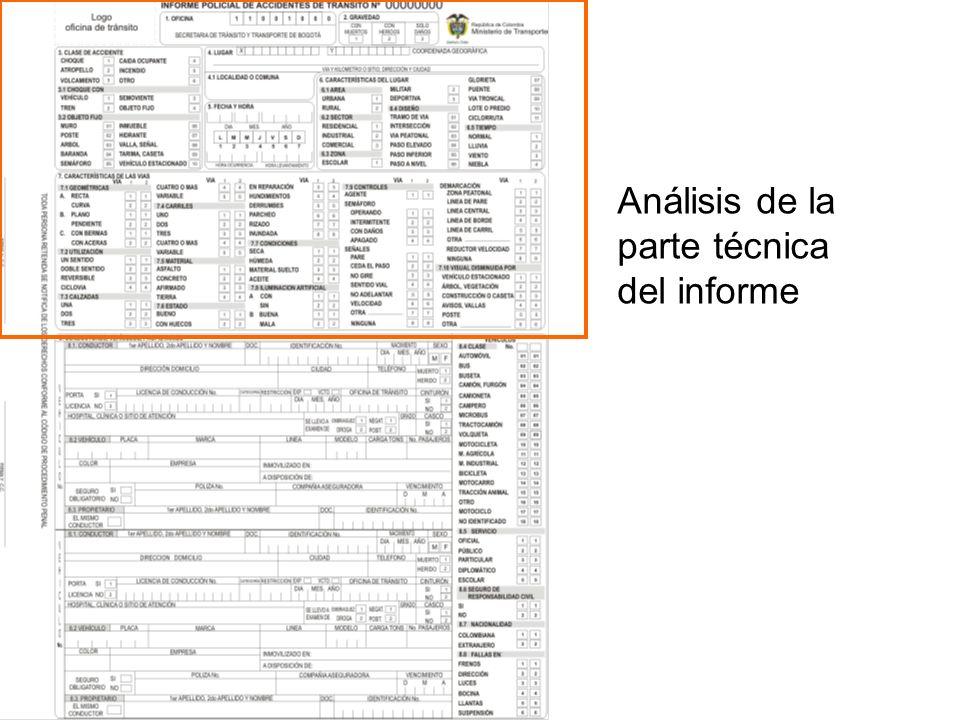 Análisis de la parte técnica del informe