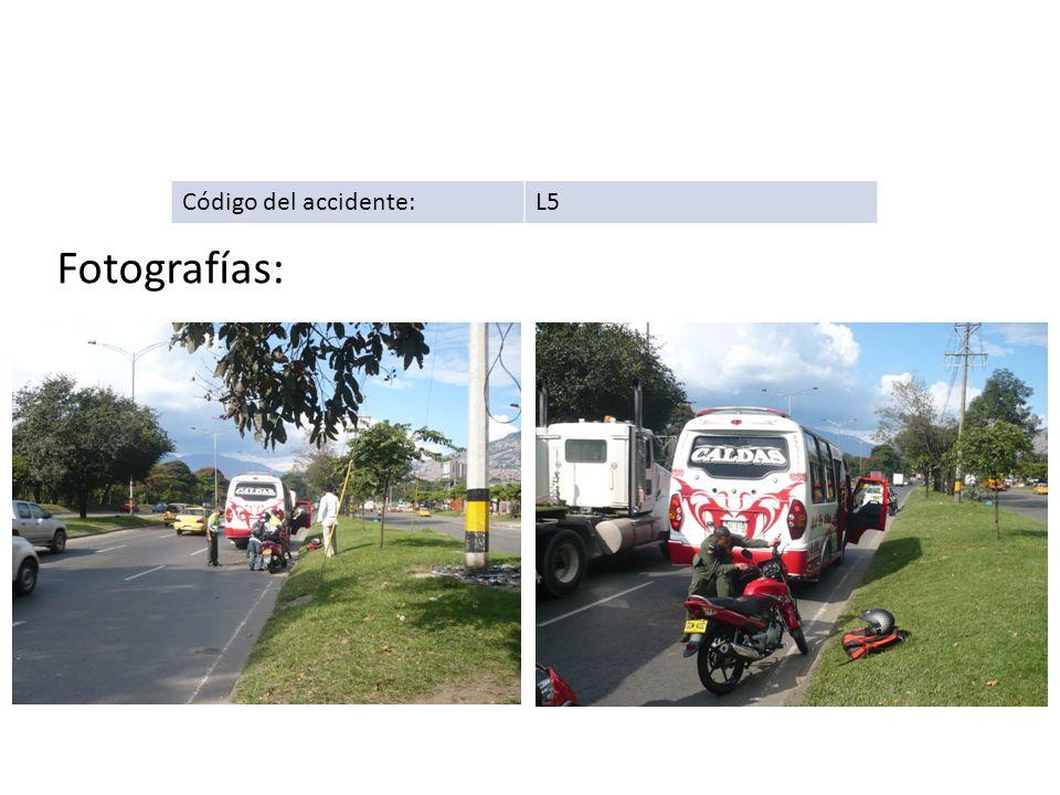 Código del accidente:L5 Fotografías: