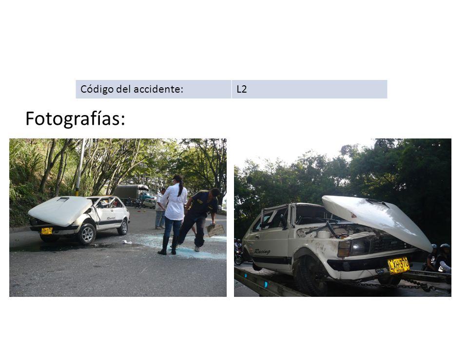 Código del accidente:L2 Fotografías: