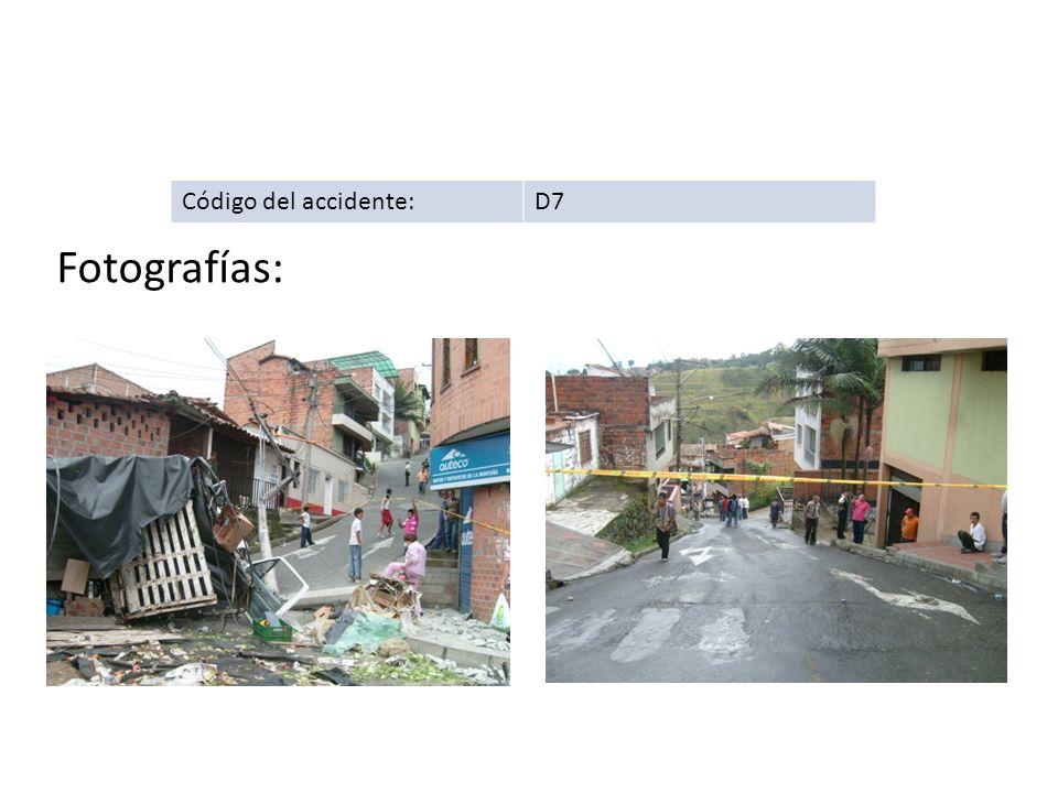 Código del accidente:D7 Fotografías: