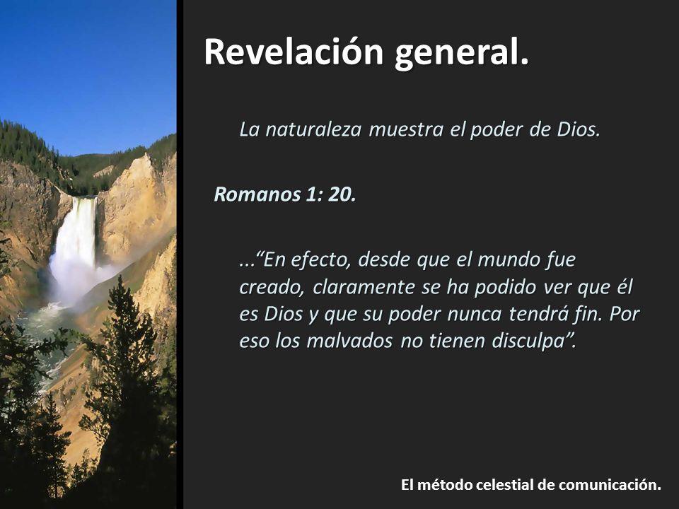 Revelación general.El método celestial de comunicación.