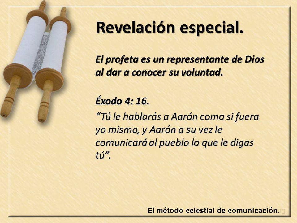 El método celestial de comunicación.Revelación especial.