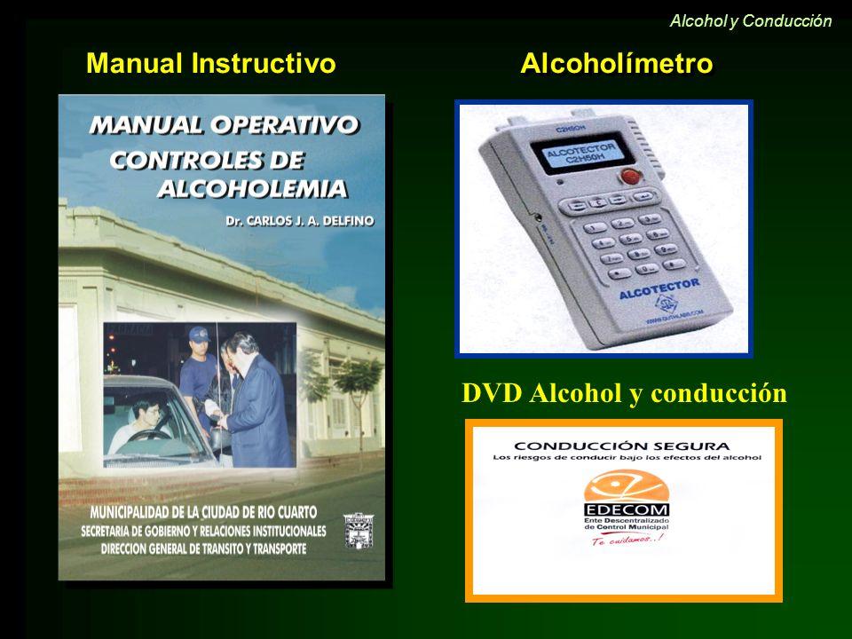 Alcoholímetro Manual Instructivo Alcohol y Conducción DVD Alcohol y conducción