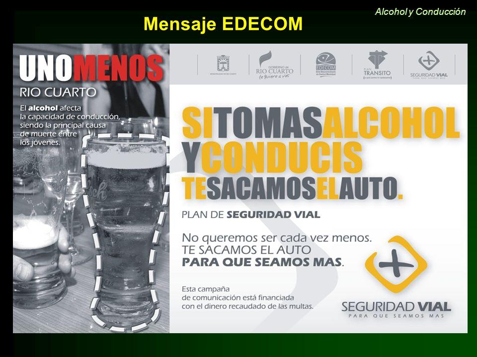 Mensaje EDECOM Alcohol y Conducción