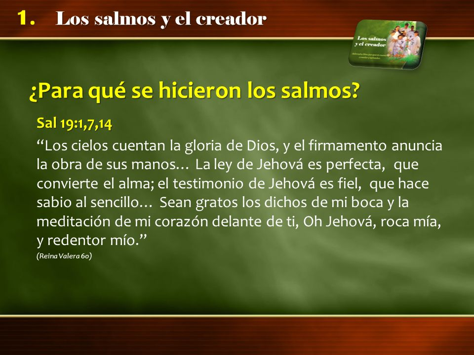 Conclusiones La adoración a Dios debe resaltar su labor creadora y salvadora.