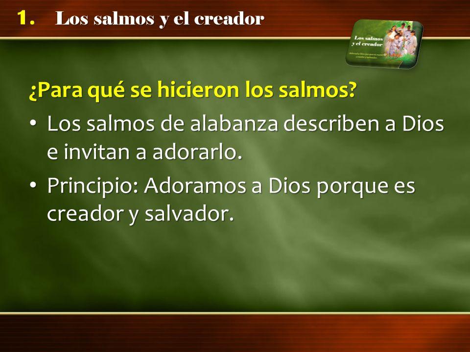 Los salmos y el creador 1.