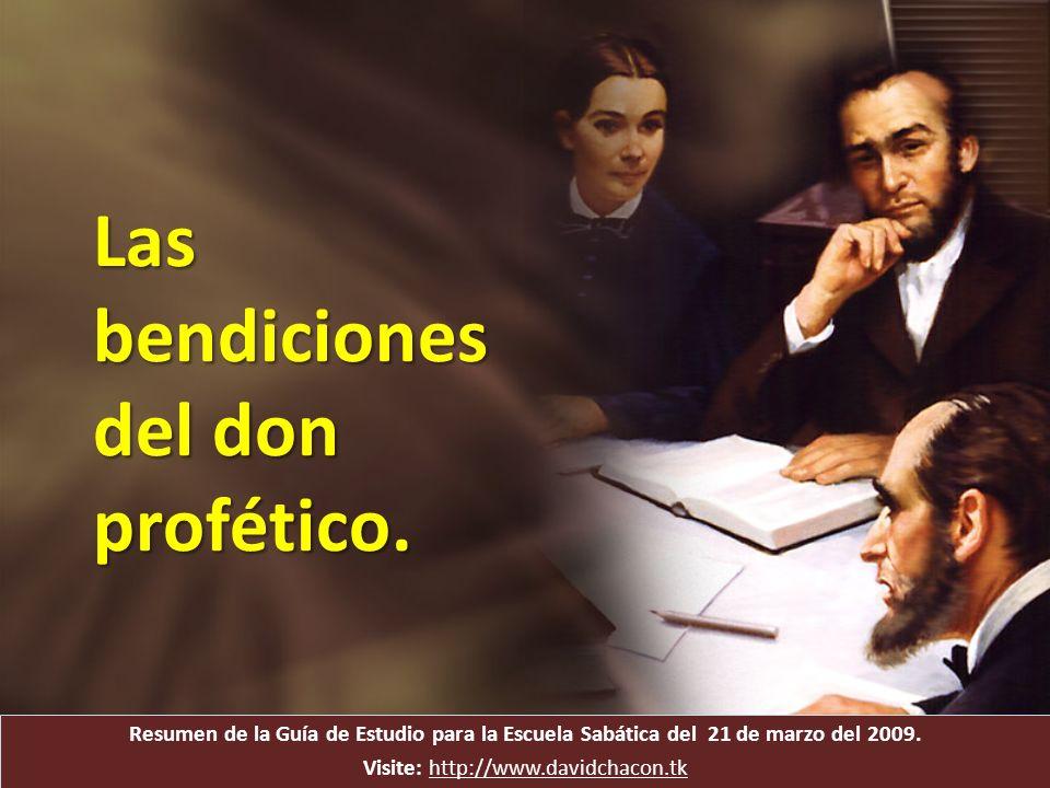 Resumen de la Guía de Estudio para la Escuela Sabática del 21 de marzo del 2009. Visite: http://www.davidchacon.tkhttp://www.davidchacon.tk Las bendic