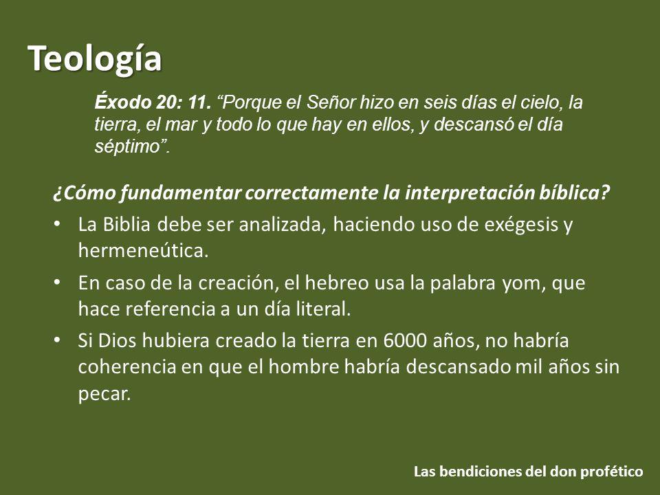 Teología Las bendiciones del don profético ¿Cómo fundamentar correctamente la interpretación bíblica? La Biblia debe ser analizada, haciendo uso de ex